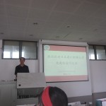 国際学院での歓迎セレモニーで、大学の概要を学びました