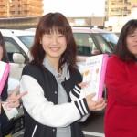 「介護福祉士」を目指す学生たち。啓発活動にも、パワー全開!