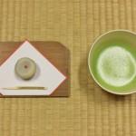 振る舞われた抹茶と学生手づくりの和菓子