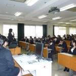 実習指導者の方たちを対象に開かれた研究発表会