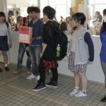 学生ラウンジ前での募金活動