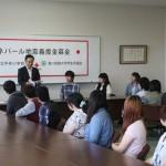 川部事務局長様からの現地の状況を聞く学生たち