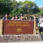 ダイヤモンドヘッドの絶景に学生たちは大満足