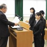 石川学長から表彰されました
