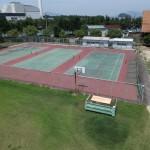 上空からテニスコート撮影