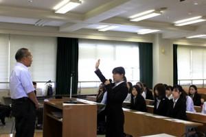 有意義な研修とすることを宣誓する学生