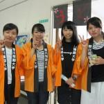 学生たちもお祭りを楽しみました
