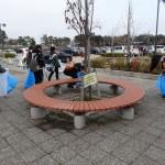 臨海公園にはたばこの吸い殻がたくさん