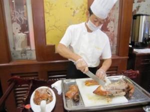 北京ダックのパフォーマンス
