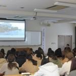 住瀬椋亮氏の「南海トラフ地震に備える」についての講演のようす
