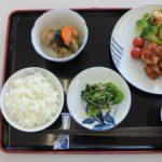 講師がつめたお弁当を食器に移し替えると、一食分の食事ができました