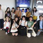 高松空港にて「行ってきます!」