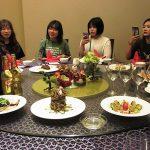 研修最初の中国料理をスマホでパシャリ