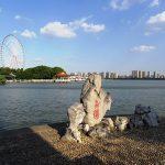 蠡園から太湖を臨む