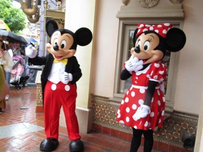 ミッキー&ミニーにも会えました